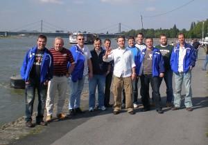 Die Teilnehmer des AH-Ausflugs nach Oberhausen - Spieler und Symphatisanten