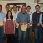 Mitgliederversammlung 2012: Die Geehrten